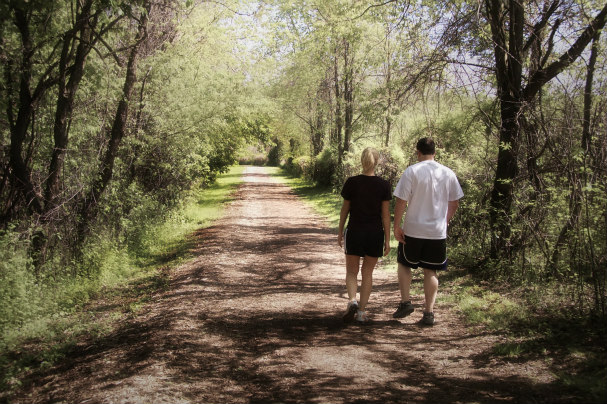 Couple Walking on Path